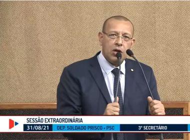 Líder grevista, Prisco minimiza presença de PMs em atos políticos e convoca para dia 7