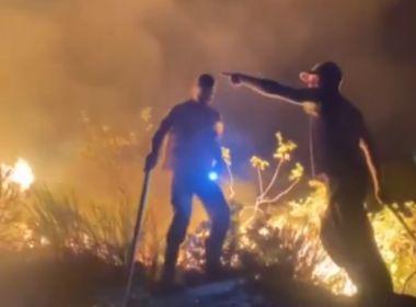 Miguel Calmon: Incêndio atinge parque ecológico que abriga nascentes de rios